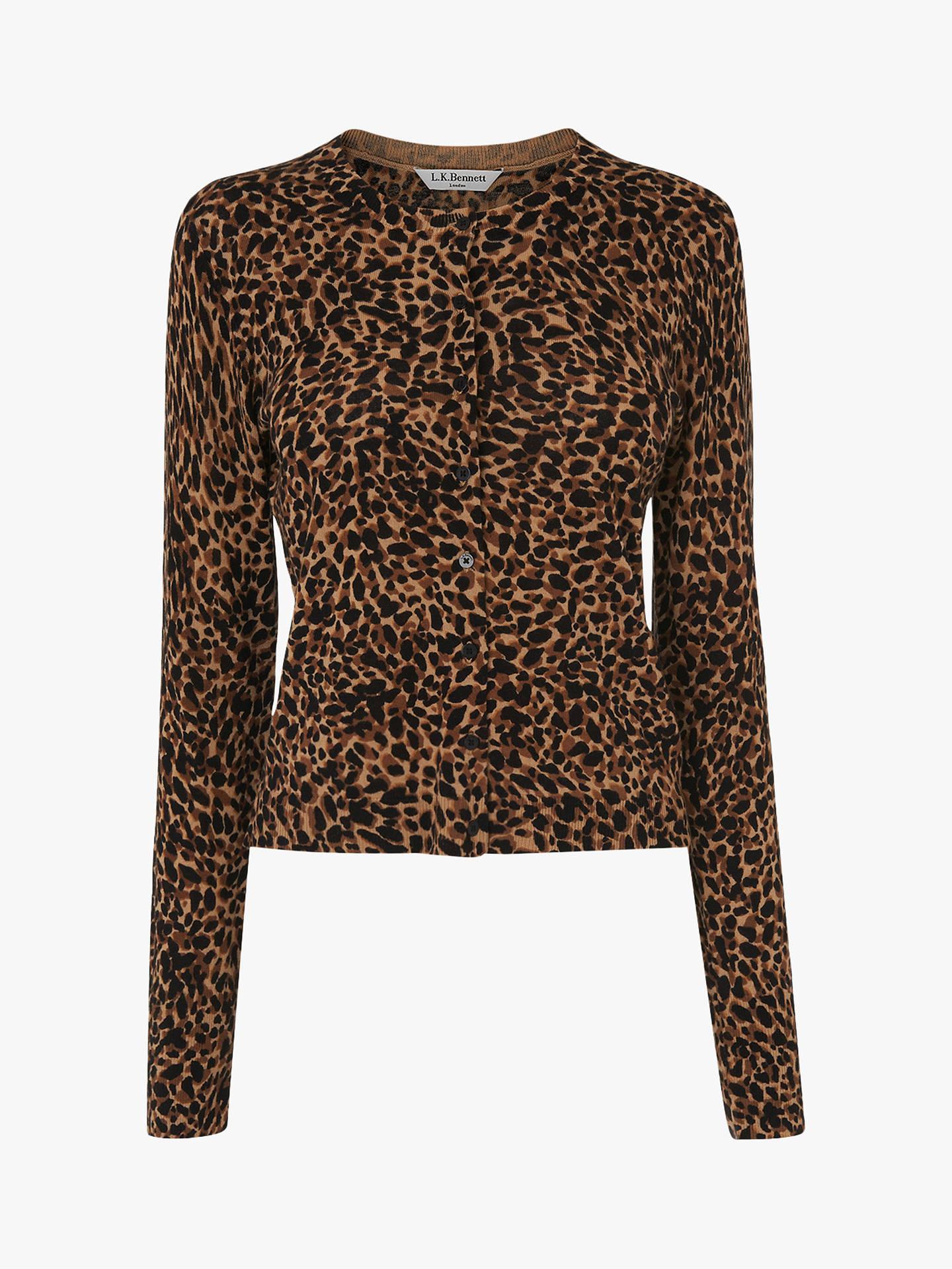 5276bc6d2 L.K.Bennett Leopard Print Nestie Cardigan