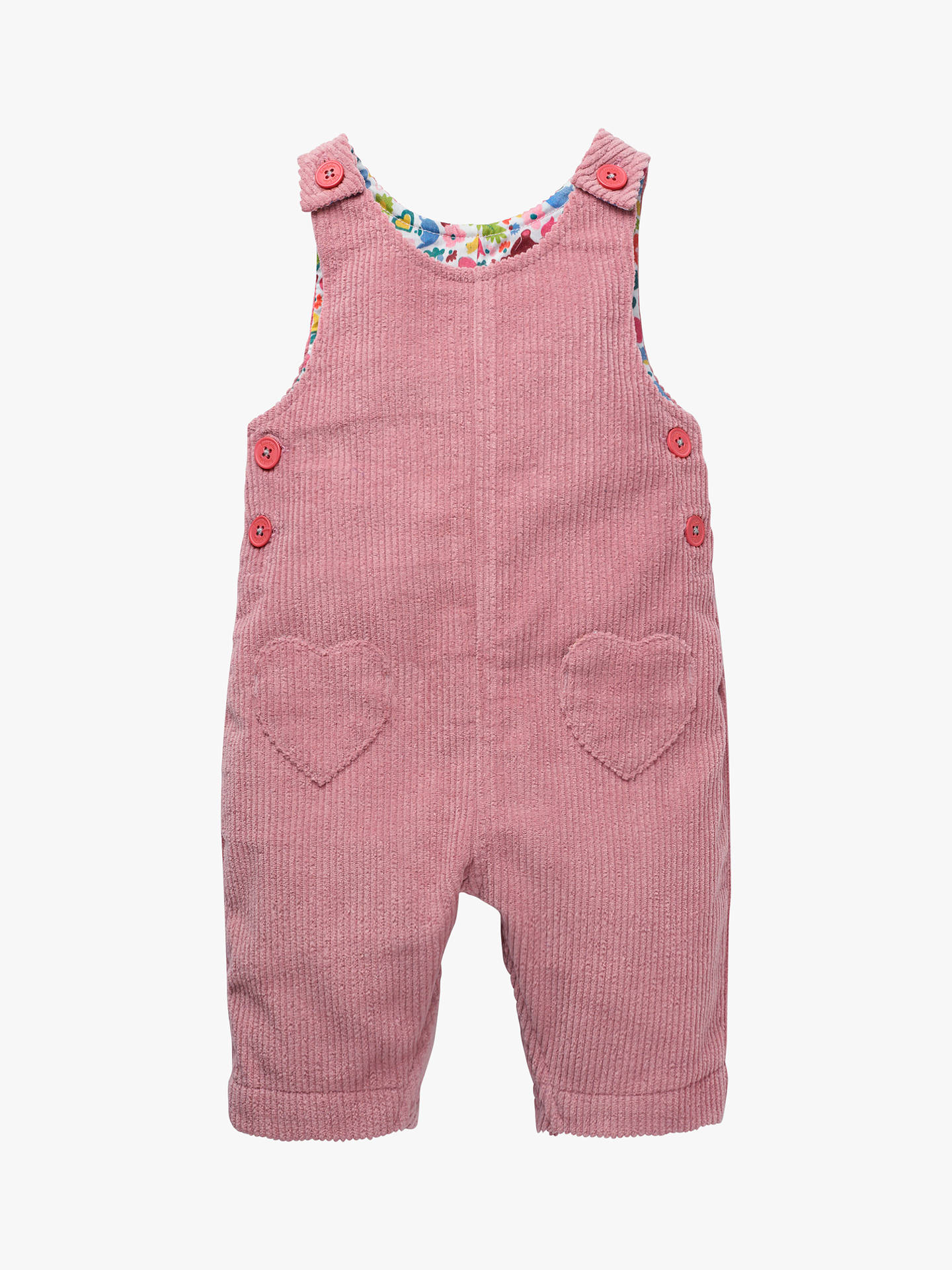 Mini Boden Baby Cord Playsuit Vintage Pink At John Lewis Partners