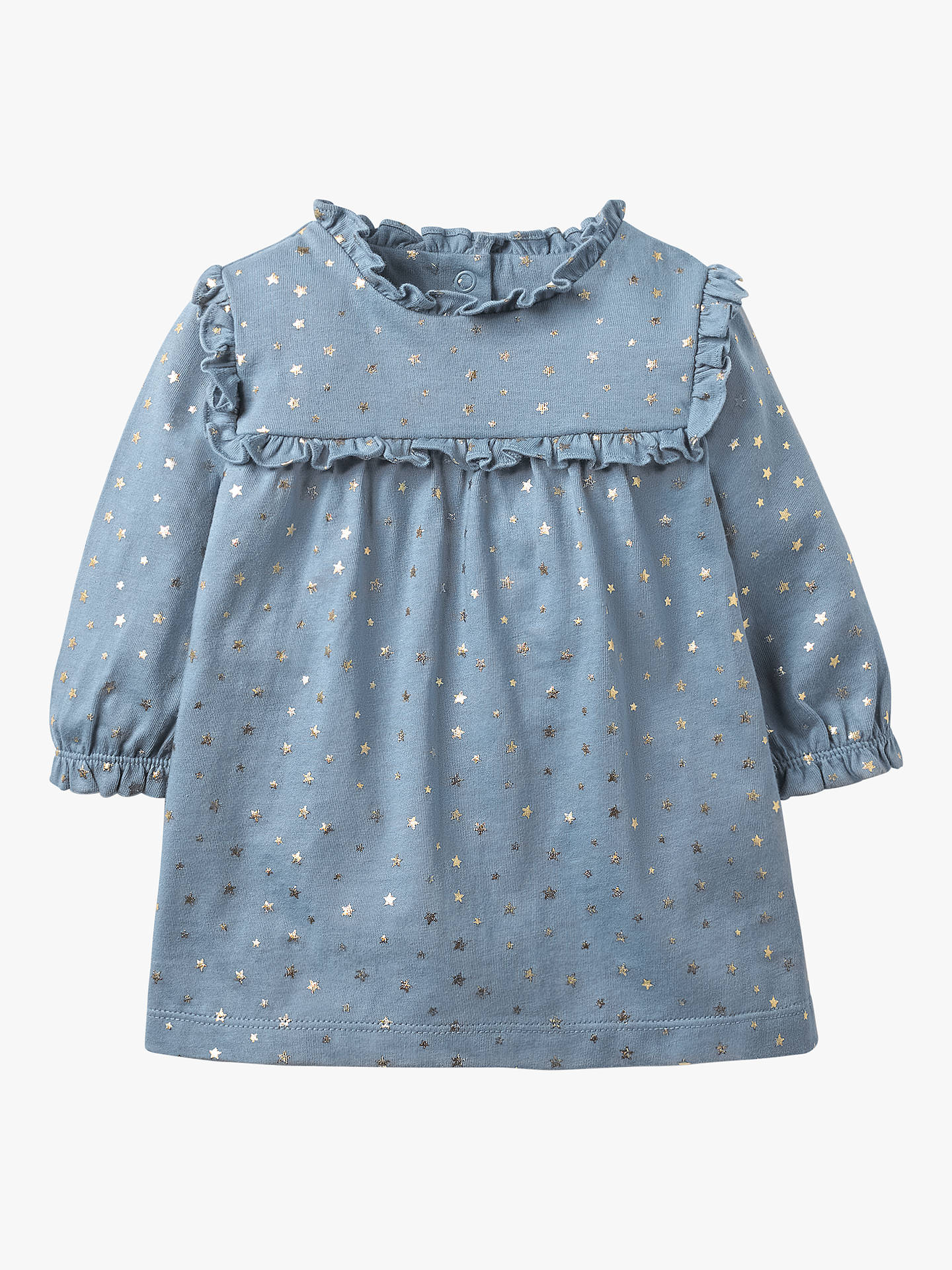 BuyMini Boden Baby Star Print Jersey Dress, Boathouse Blue Star, 3-4 years Online at johnlewis.com