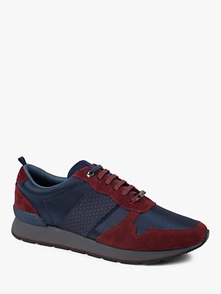 Ted Baker Jaymz Trainers, Blue/Dark Red