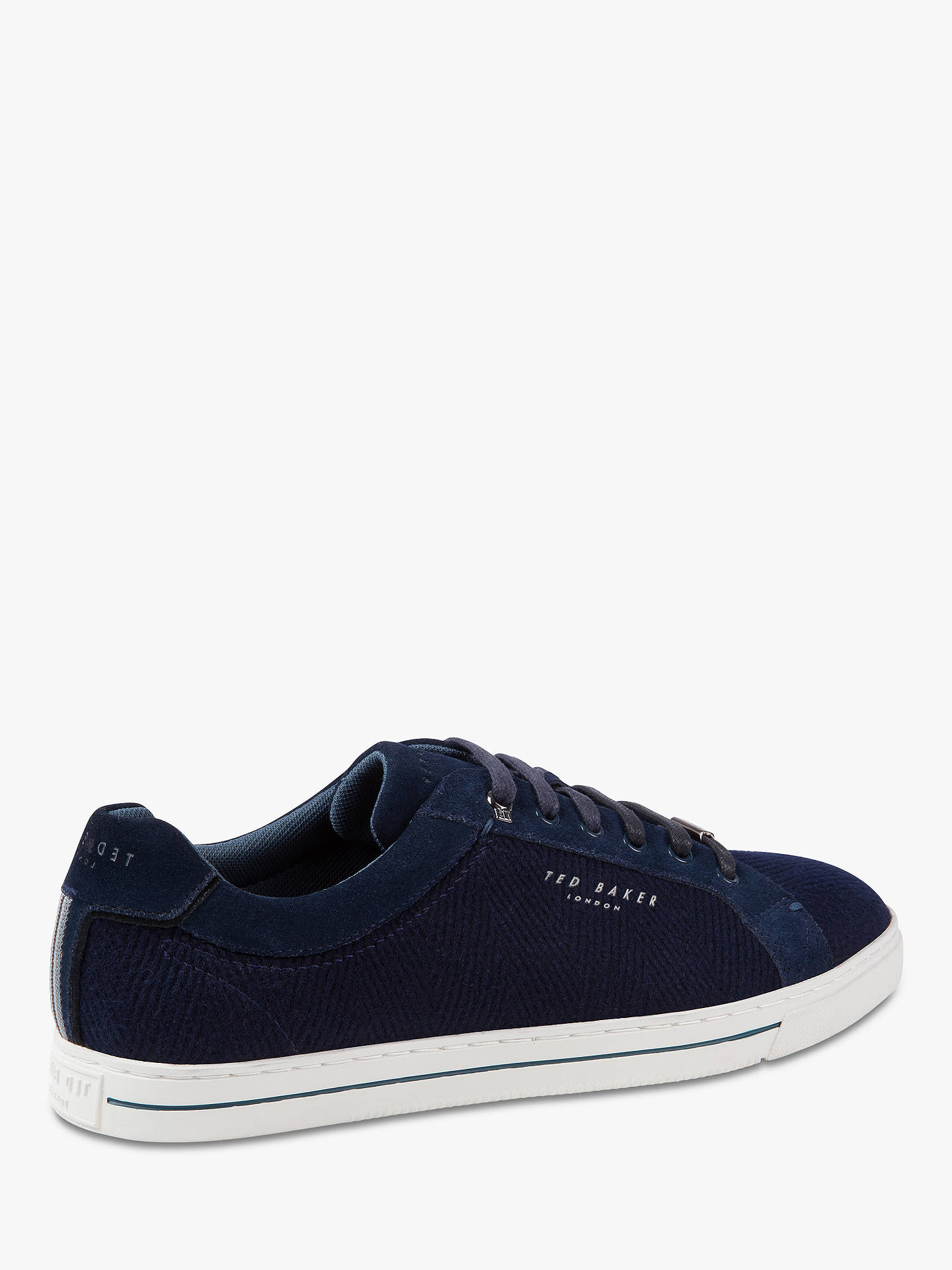 BuyTed Baker Werill Textured Trainers, Dark Blue, 7 Online at johnlewis.com