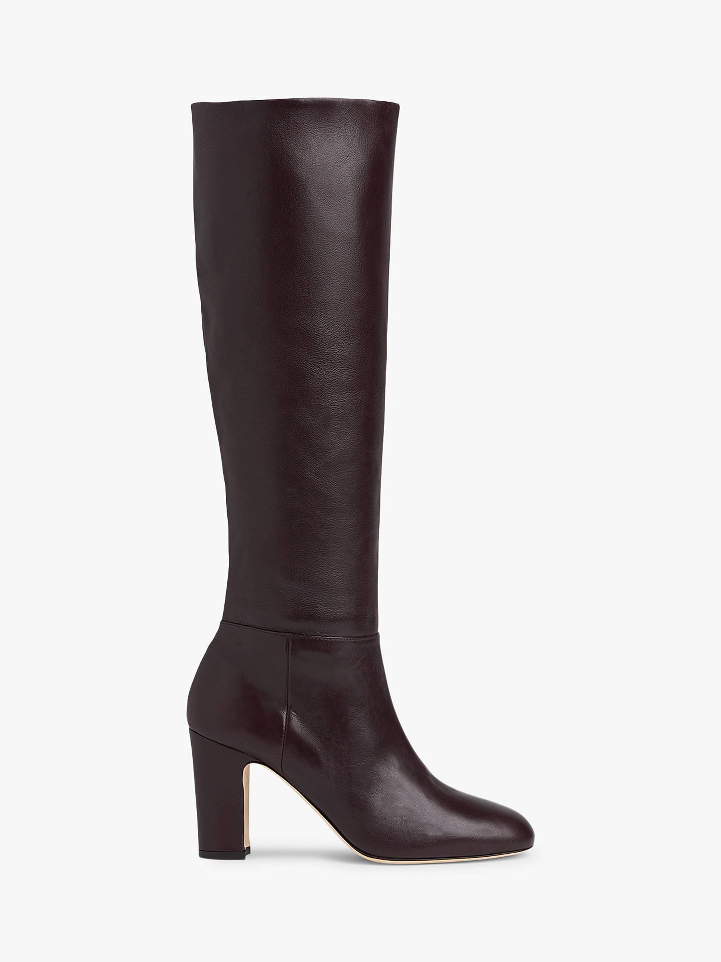 82d80401bc8e3 L.K.Bennett Kristen Knee High Boots, Bordeaux Leather