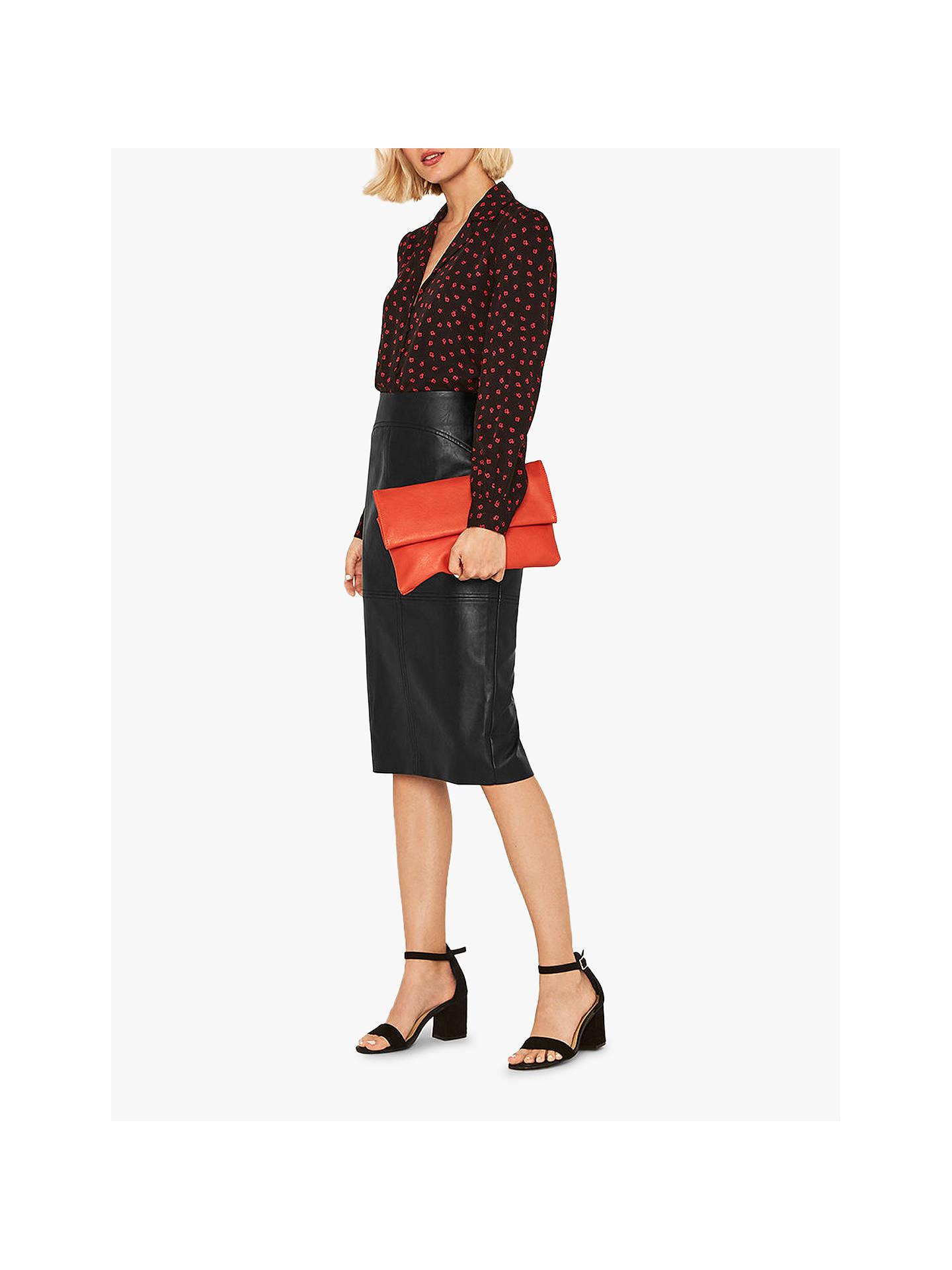 22dd220ec894 Buy Oasis Faux Leather Skirt, Black, 6 Online at johnlewis.com ...