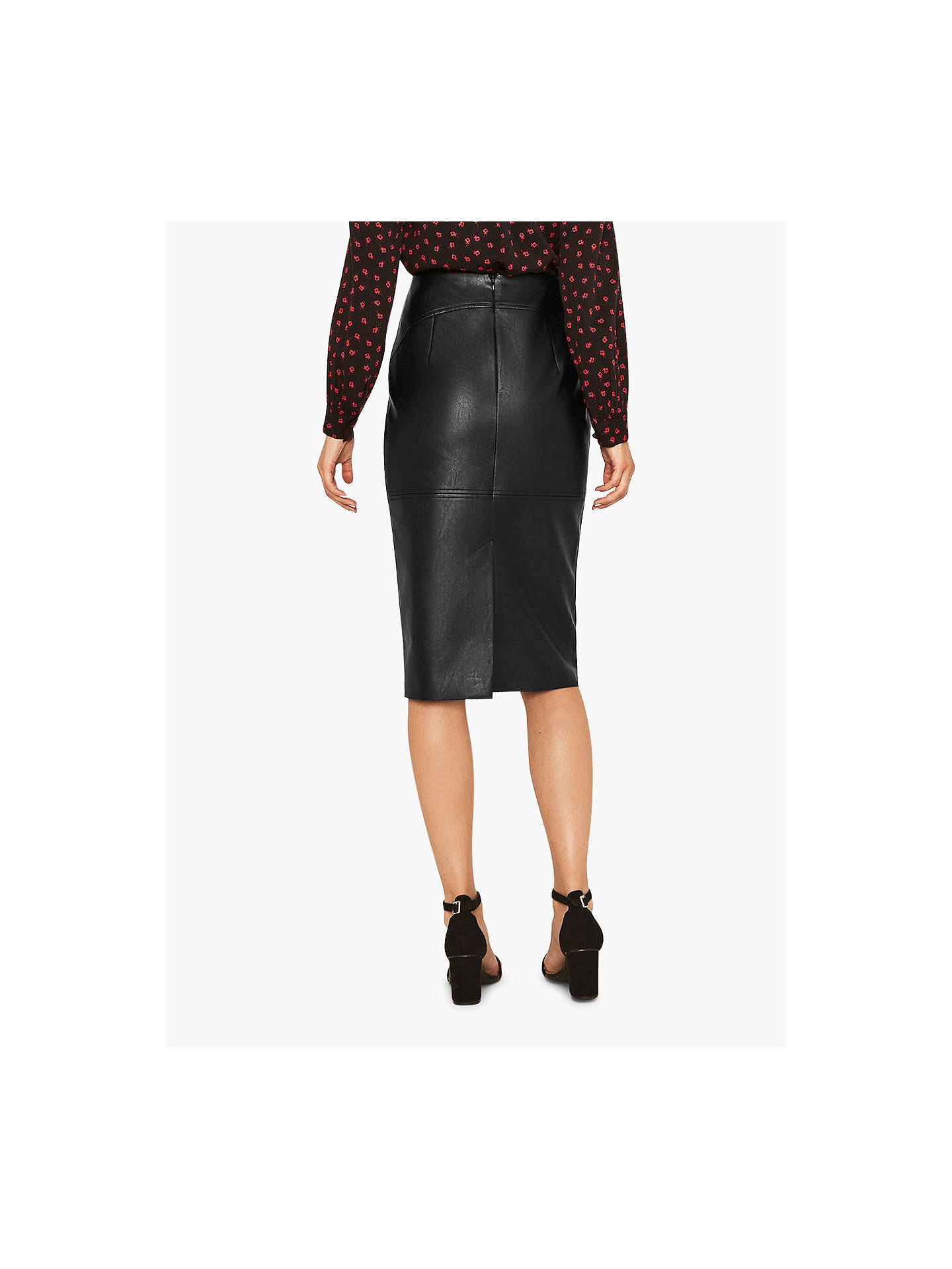 8f3ae5ba27 ... Buy Oasis Faux Leather Skirt, Black, 6 Online at johnlewis.com ...