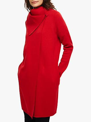 Phase Eight Paloma Knitted Coat, Scarlet