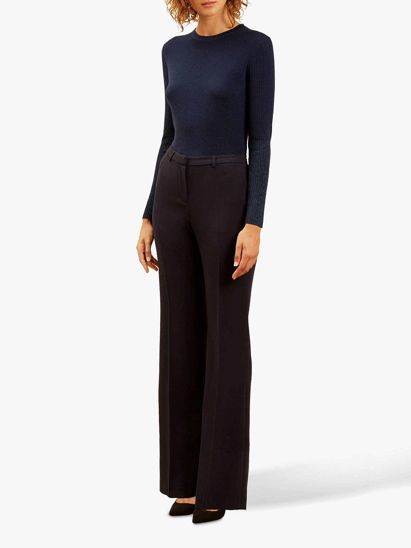 BuyFenn Wright Manson Kick Flare Antonia Trousers, Navy, 8 Online at johnlewis.com