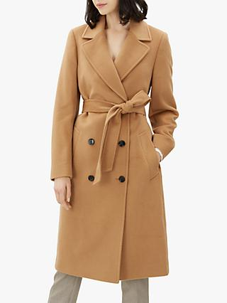 Jaeger Icon DB Wrap Coat, Camel