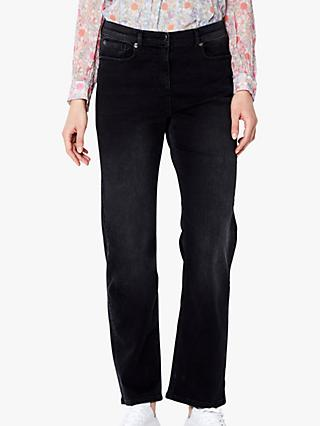Ghost Straight-Cut Arlo Jeans, Washed Black