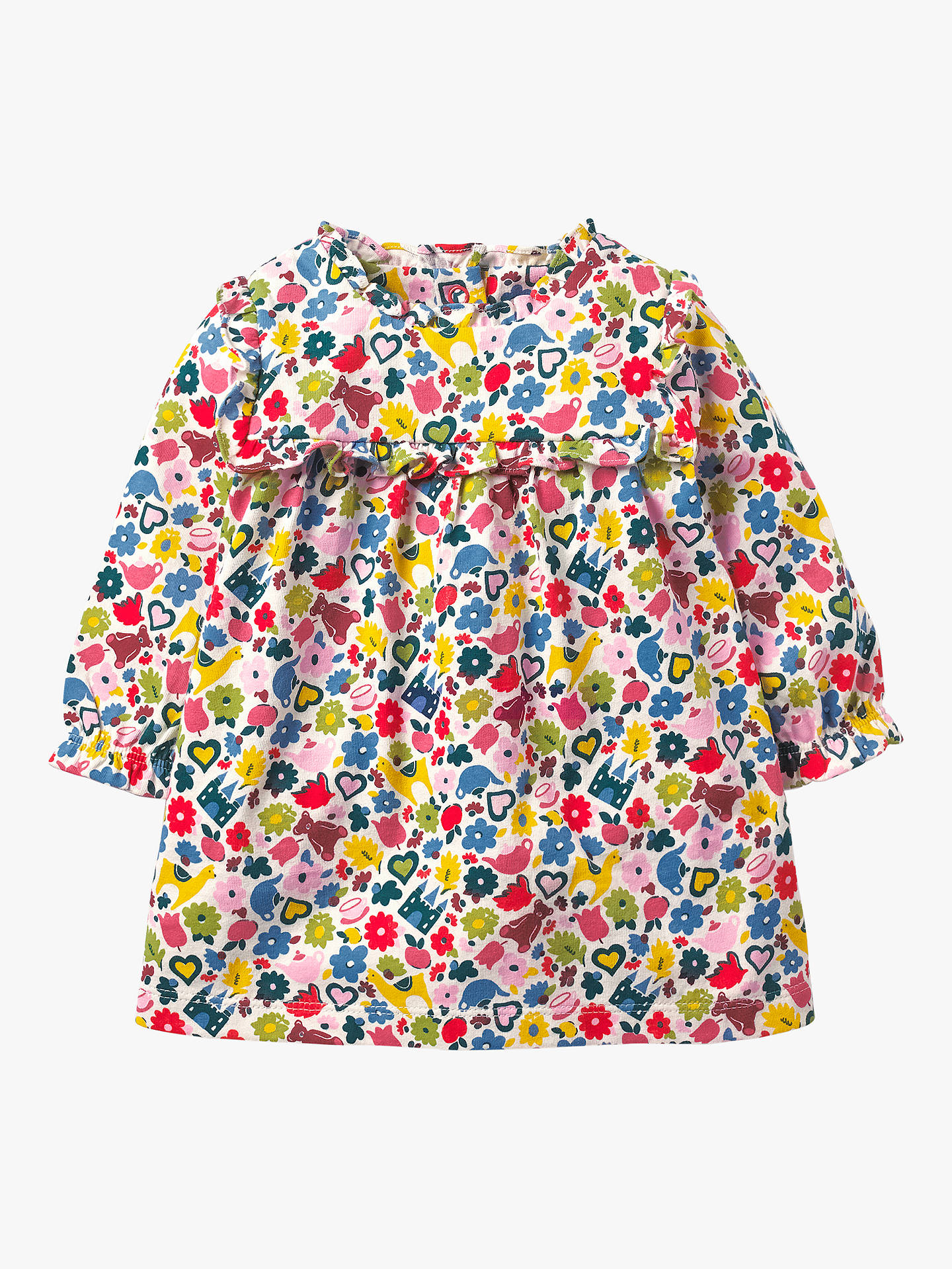 BuyMini Boden Baby Floral Tiny Toys Ruffle Dress, Multi, 18-24 months Online at johnlewis.com