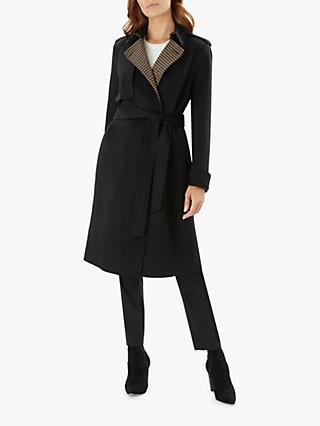 b804e71b375 Jaeger Houndstooth Wool Trench Coat