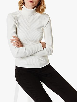 Karen Millen Roll Neck Jumper, Ivory