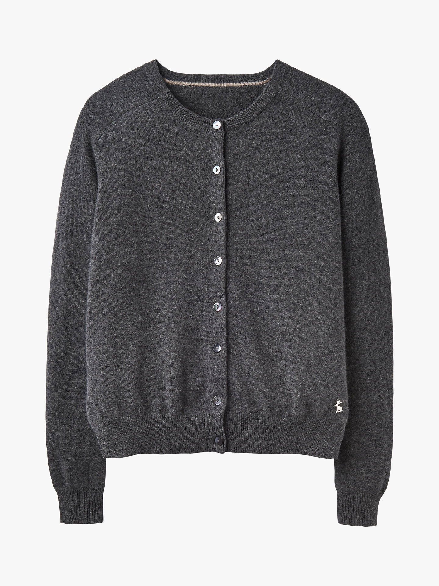 BuyJoules Evelyn Raglan Colour Strip Cardigan, Charcoal, 8 Online at johnlewis.com