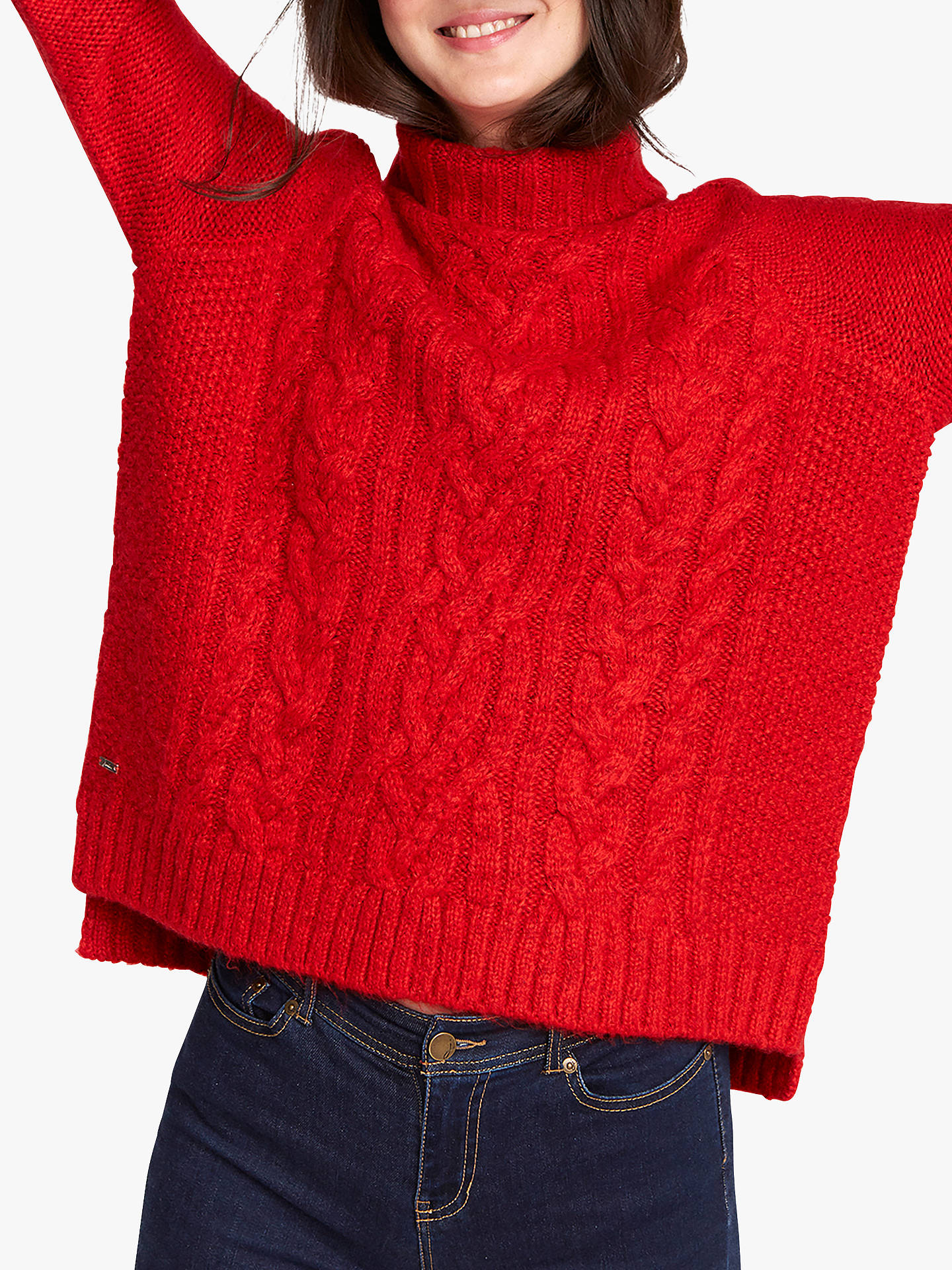 c8dd7fbb66f Joules Jessie Cable Knit Roll Neck Jumper at John Lewis & Partners