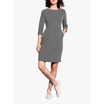 Joules Beth Jacquard Jersey Dress, Navy Heart