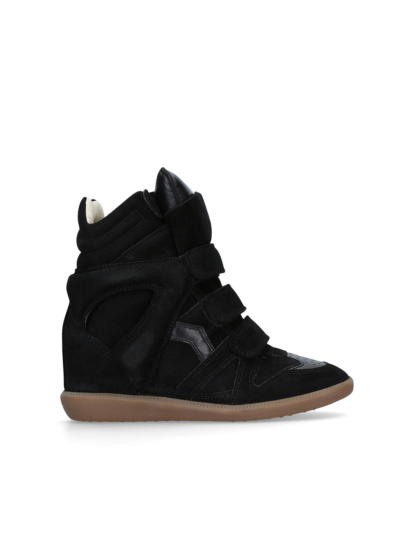 a03565337f Buy Isabel Marant Beckett Wedge Heel Trainers, Black Suede, 3 Online at  johnlewis.