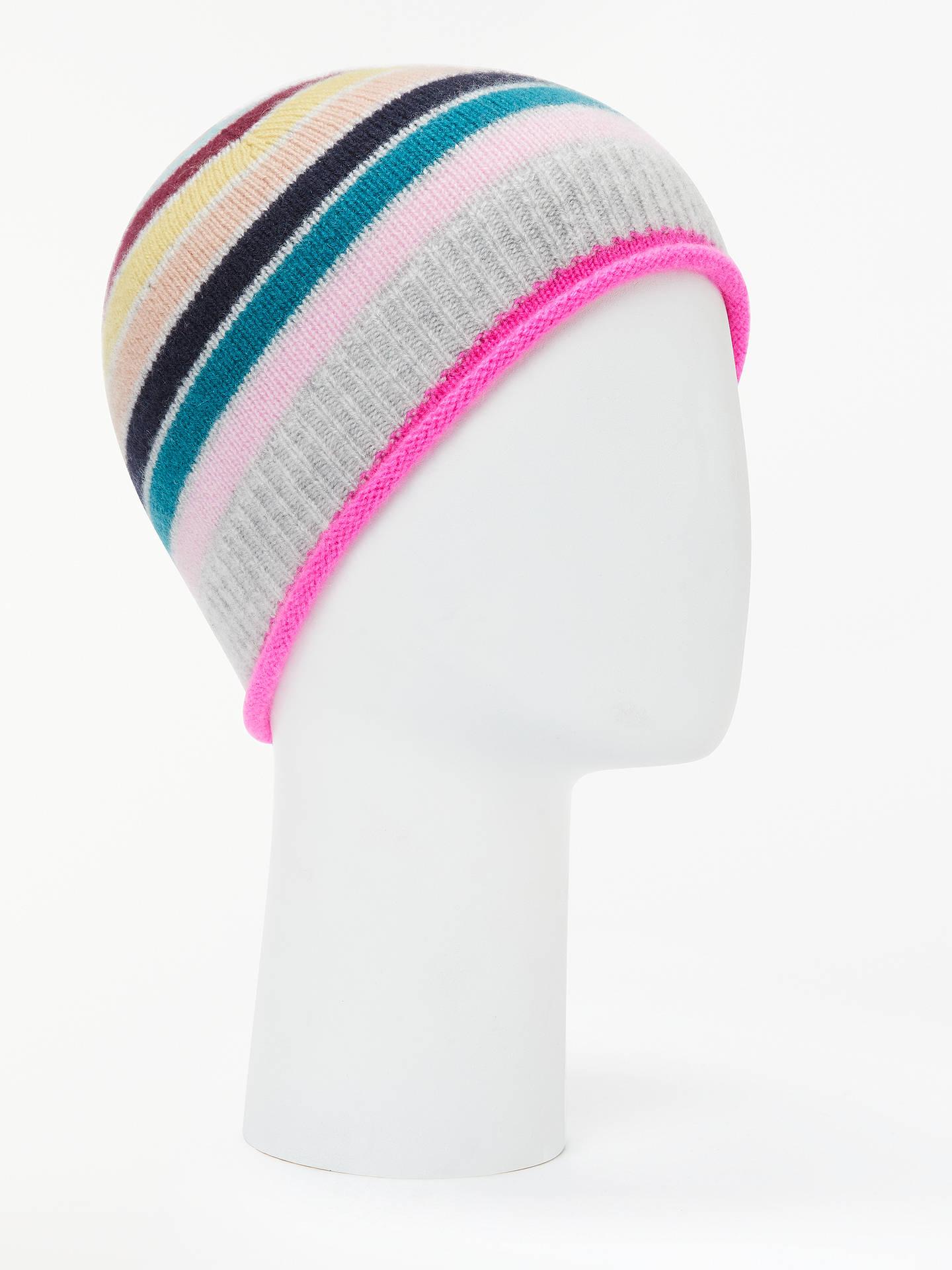 2c98538b311a1 Boden Stripe Detail Cashmere Beanie Hat