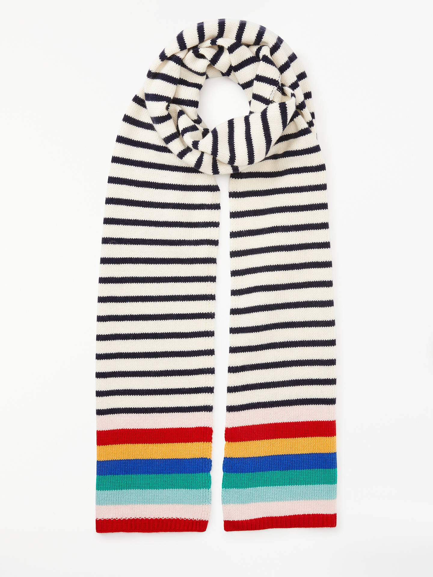 Boden Stripe Detail Scarf Multi At John Lewis Partners