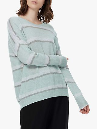 Brora Stripe Cashmere Jumper, Moonlight Stripe