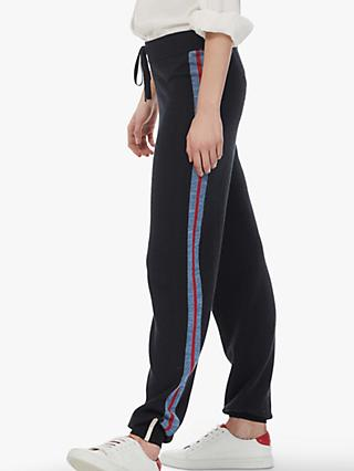 Brora Merino Wool Side Stripe Jogger Trousers