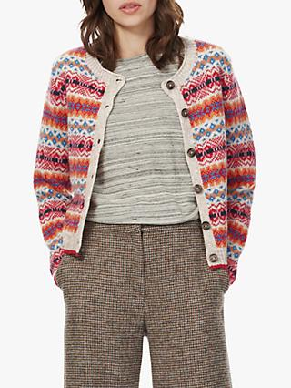 Brora Lambswool Fair Isle Cardigan