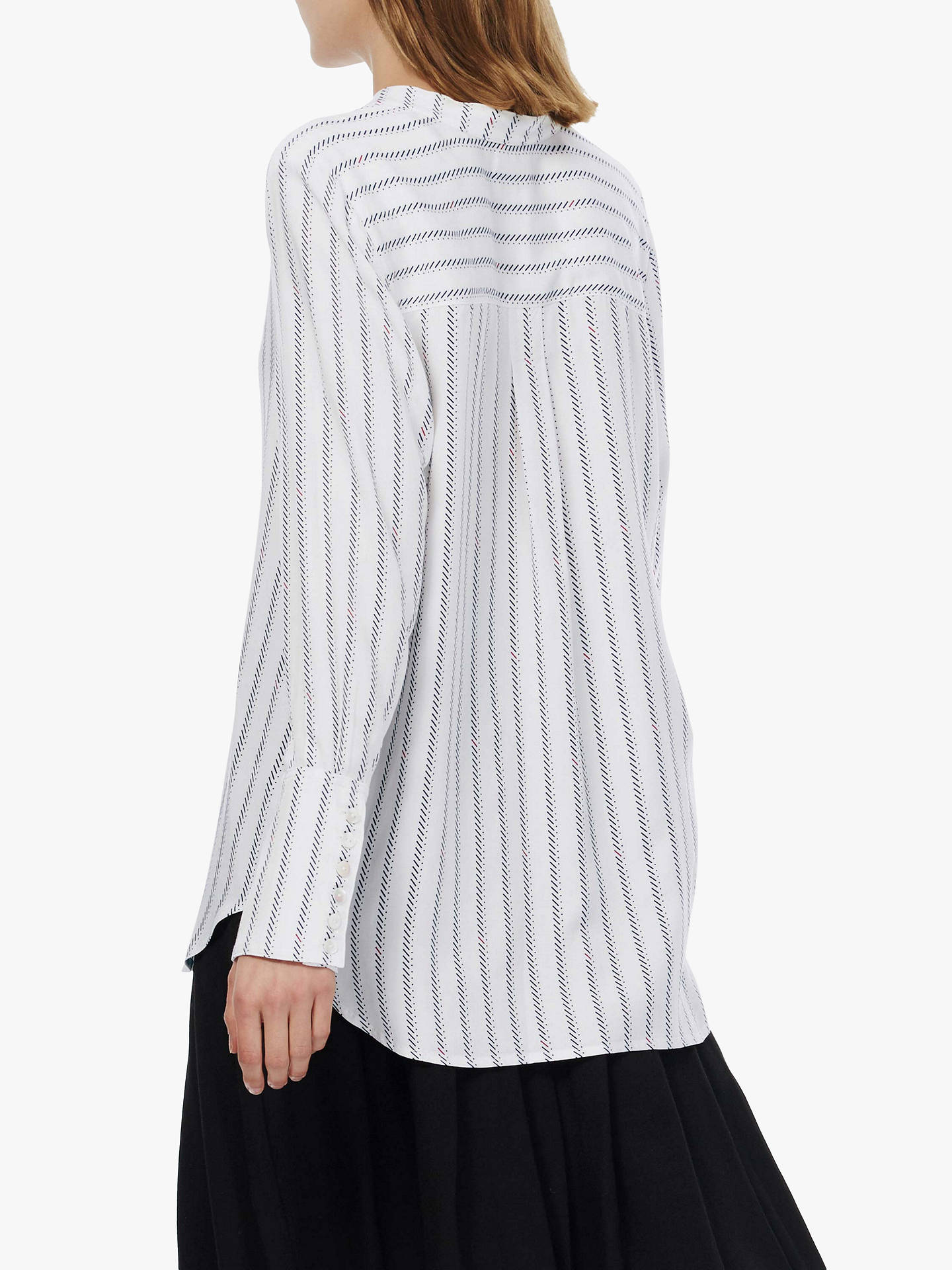 BuyBrora Graphic Stripe Tunic Dress, Ivory/Black, 14 Online at johnlewis.com
