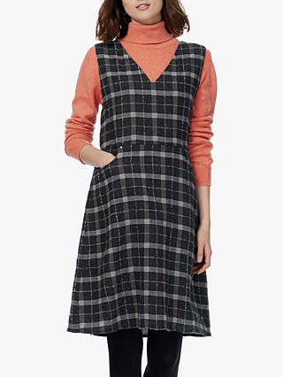 Buy Brora Wool Pinafore Dress, Charcoal, 8-10 Online at johnlewis.com