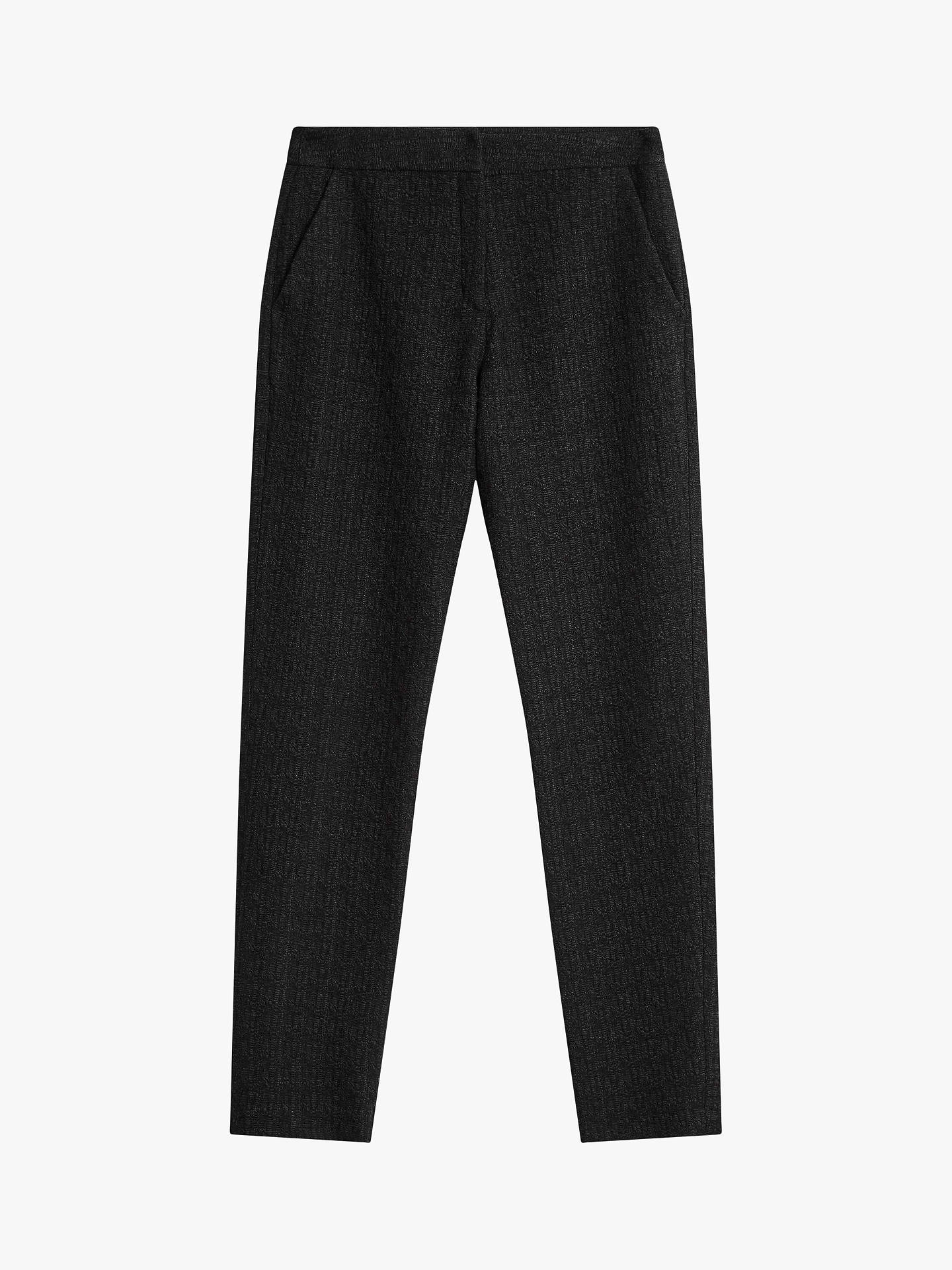 BuyBrora Textured Wool Mix Trousers, Charcoal, 12 Online at johnlewis.com