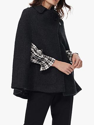 Brora Tweed Cape Coat, Forest