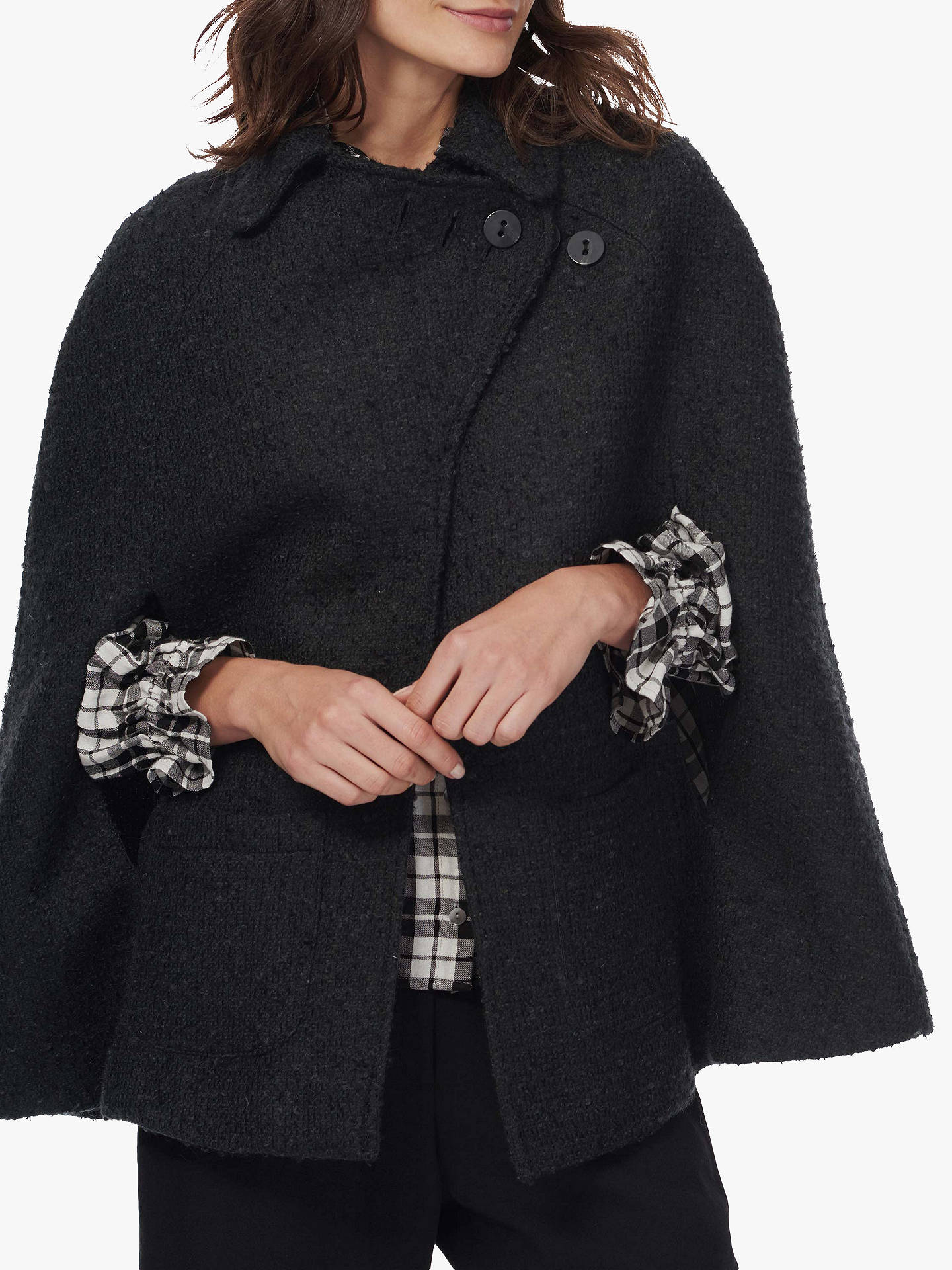 BuyBrora Tweed Cape Coat, Forest, 8-10 Online at johnlewis.com