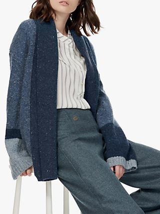 Brora Mohair Blend Donegal Knit Cardigan