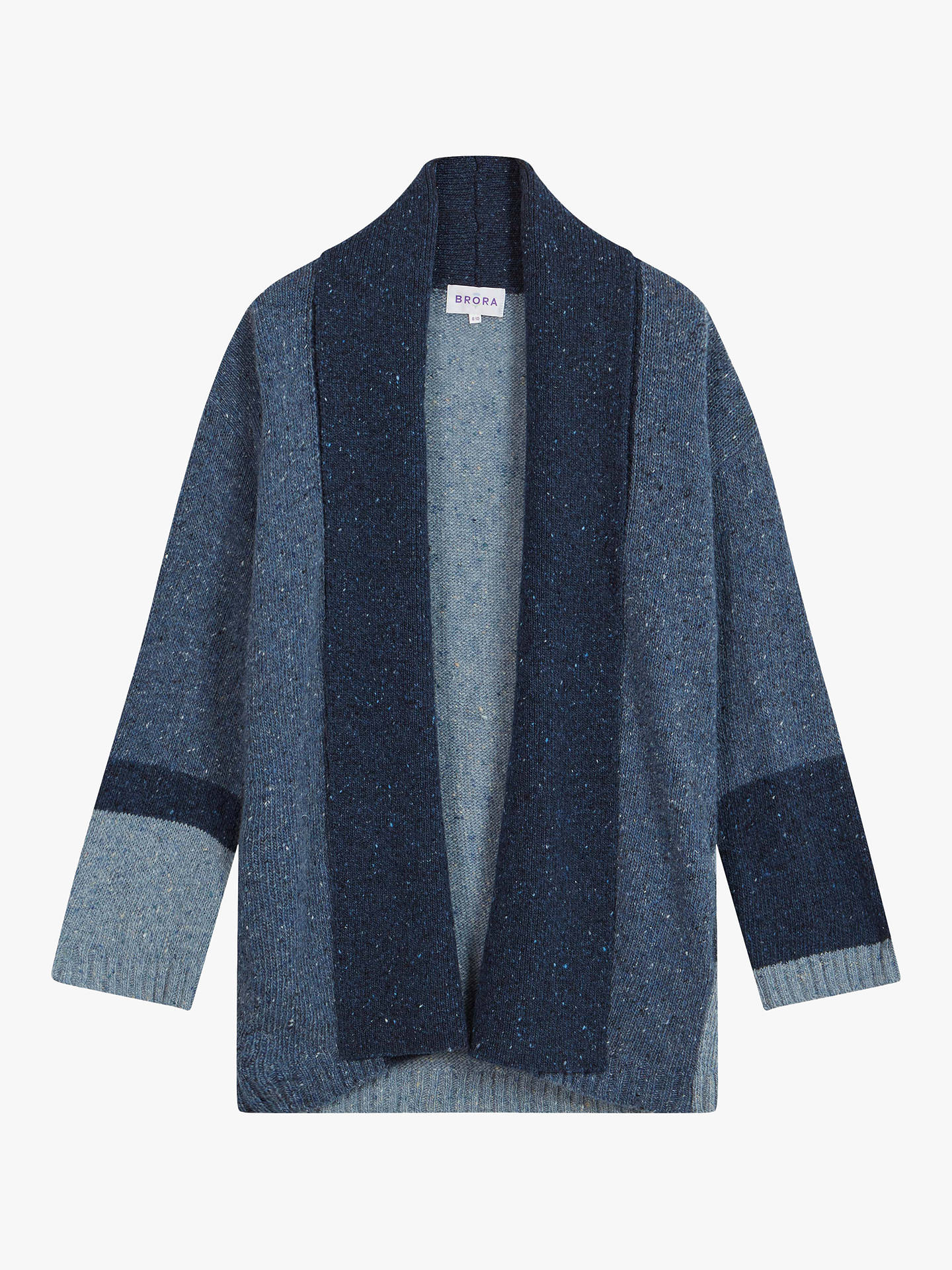 BuyBrora Mohair Blend Donegal Knit Cardigan, Ink, 8-10 Online at johnlewis.com