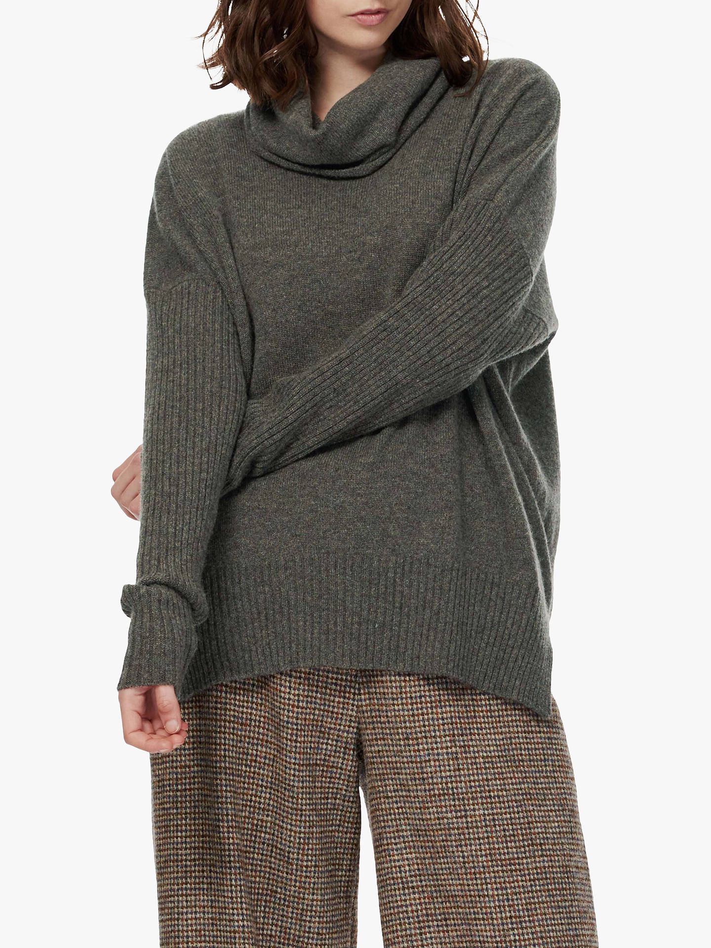 Buy Brora Cashmere Oversized Gauzy Jumper, Elephant, S/M Online at johnlewis.com