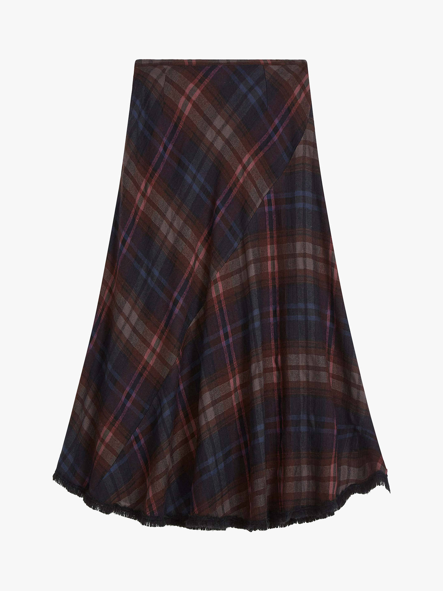 Buy Brora Tweed Check Skirt, Bitter Chocolate, 6 Online at johnlewis.com