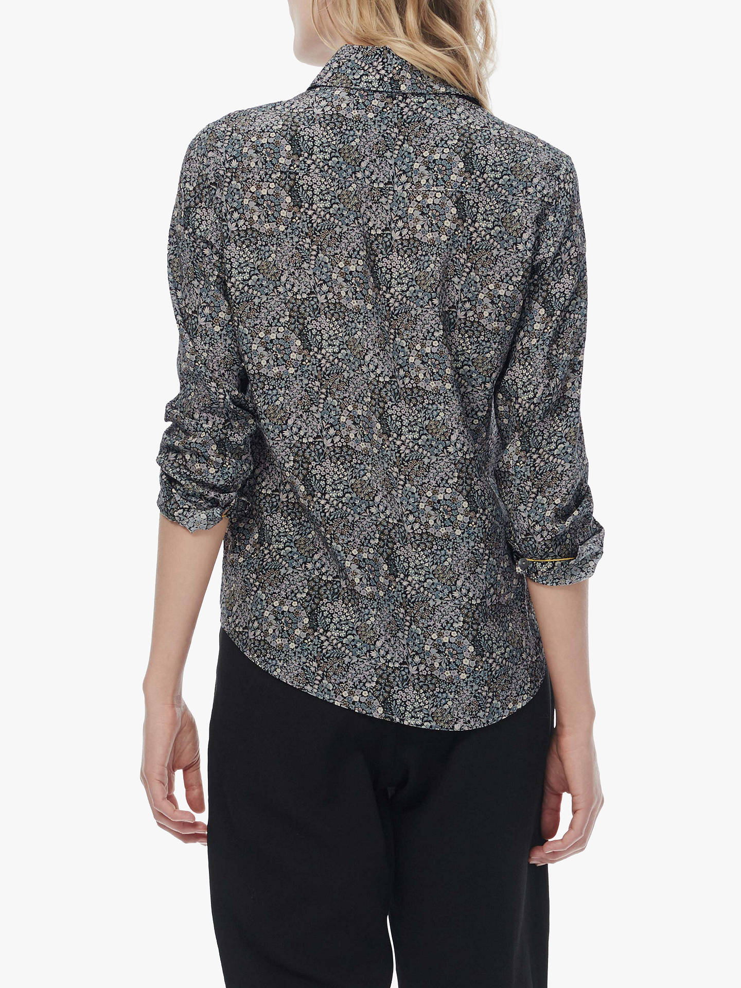 Buy Brora Liberty Silk Shirt, Pine Floral, 10 Online at johnlewis.com