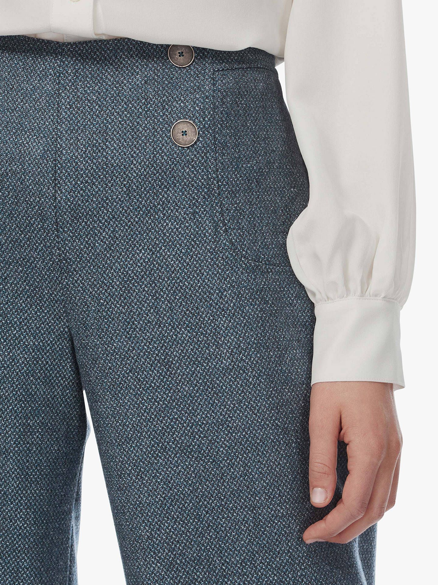 BuyBrora Tailored Wide Leg Wool Trousers, Cedar, 6 Online at johnlewis.com