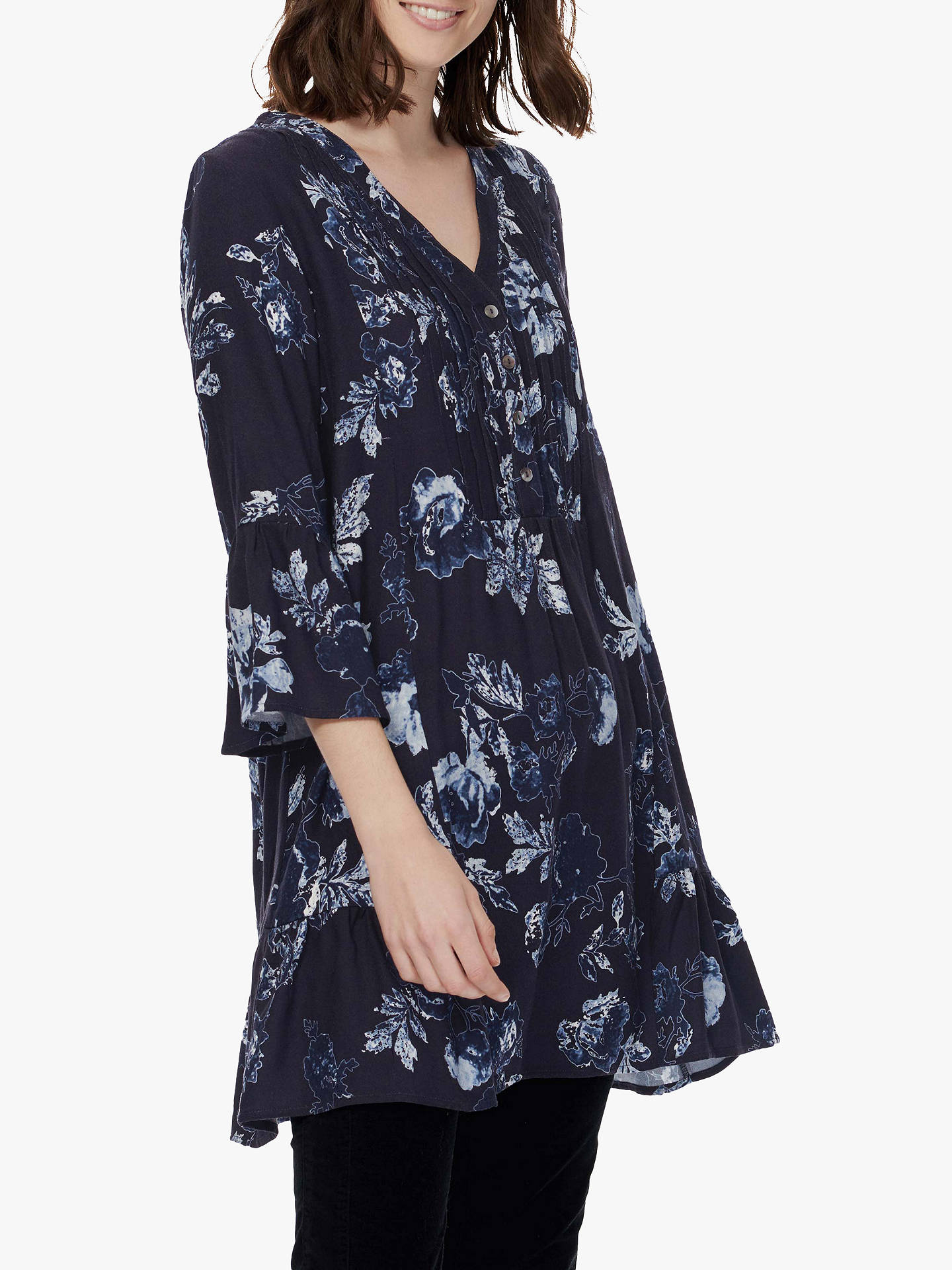 BuyBrora Floral Tunic Dress, Navy/Sea Salt, 8 Online at johnlewis.com