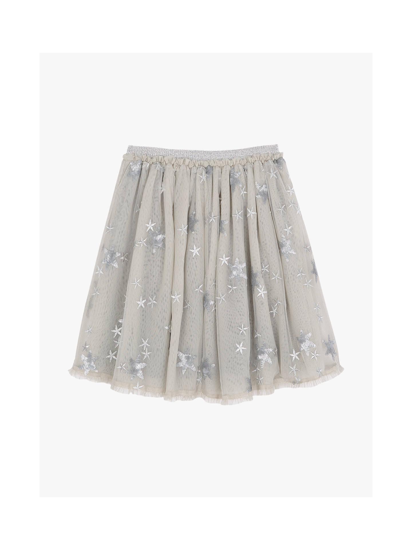 bcf25fe2f2 Buy Mintie by Mint Velvet Girls' Sequin Star Skirt, Light Grey, 5 years ...