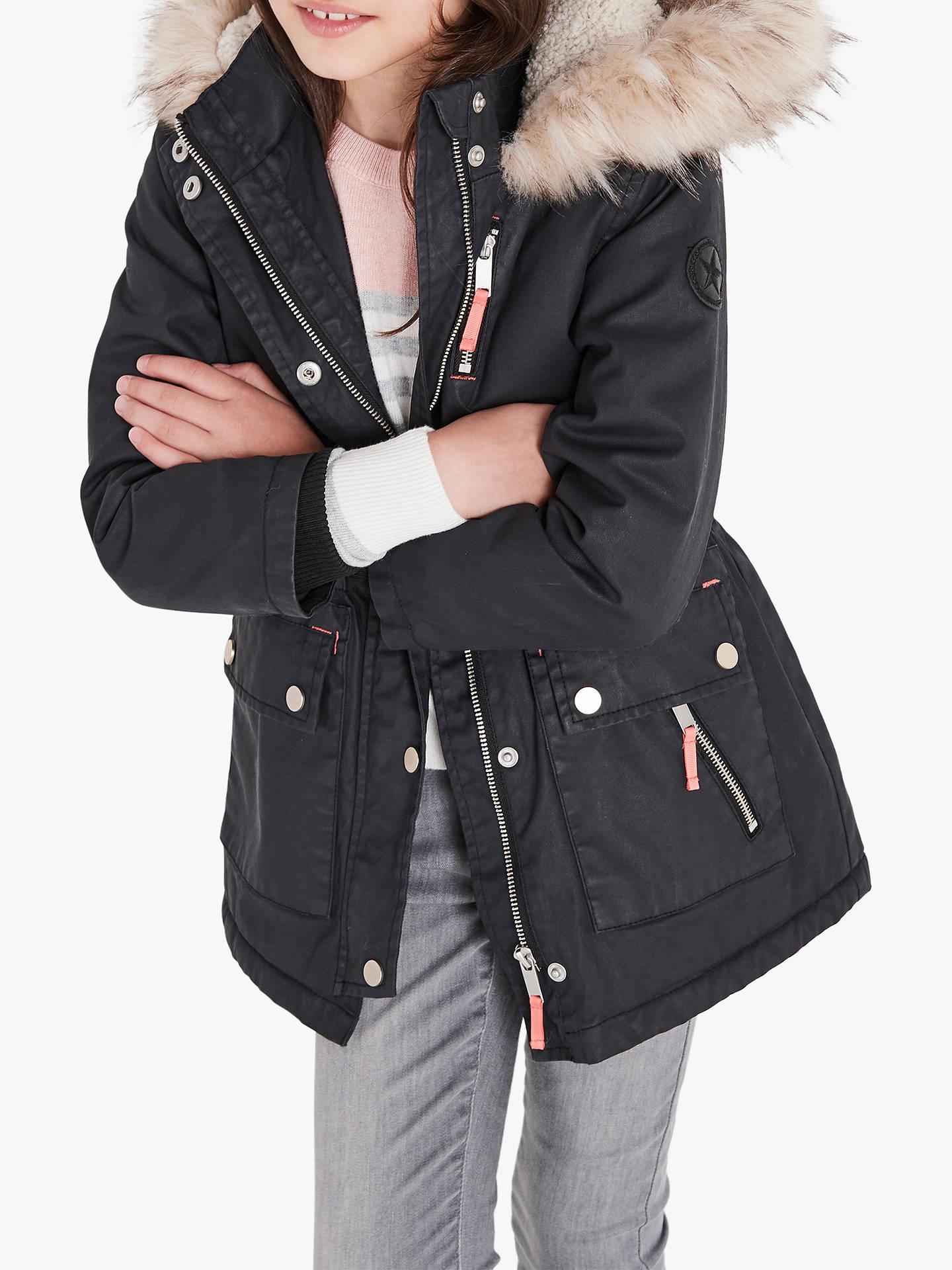 Ladies Waxed Parka Jacket