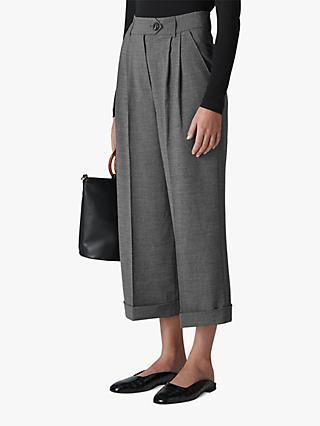 fbb92efdbbc01 Whistles Turn Up Cropped Wide Leg Trousers
