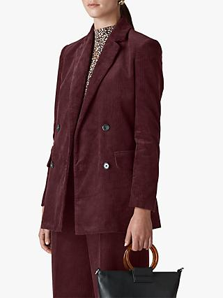 Whistles Cord Double Breasted Blazer