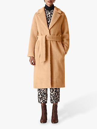 Whistles Textured Wool Belted Coat