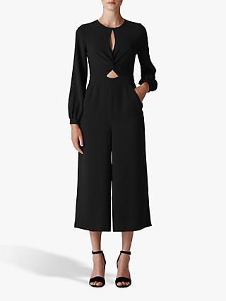 Whistles Lexi Twist Front Jumpsuit, Black
