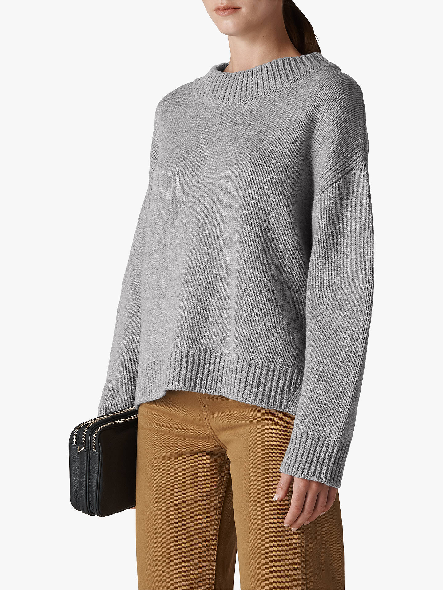 ca87aa5496 Whistles Chunky Knit Oversized Cropped Jumper at John Lewis   Partners