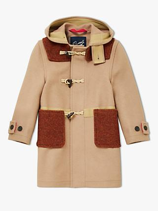 Gloverall for John Lewis & Partners Boys' Duffle Jacket, Brown