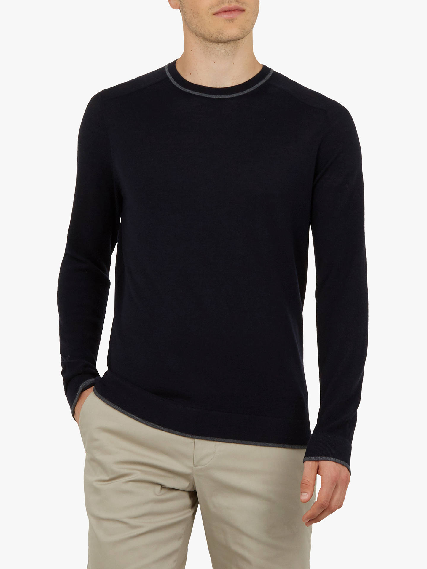 Buy Ted Baker Golf Trackr Jumper, Navy Blue, XS Online at johnlewis.com