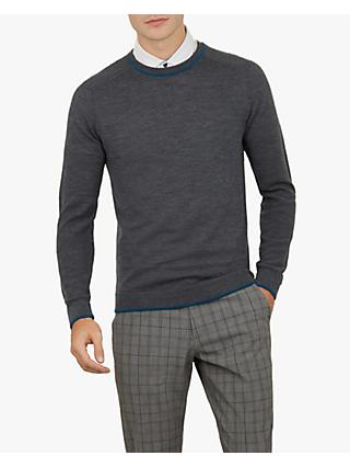Ted Baker Trackr Golf Jumper, Charcoal Grey