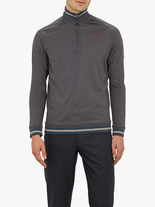Buy Ted Baker Golf Comp Funnel Neck Jumper, Grey Mid, 1 Online at johnlewis.com