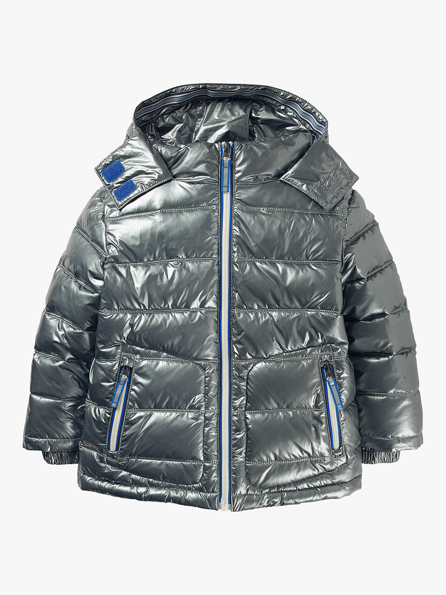 c2eecd4e8cb8a Mini Boden Boys' Padded Jacket, Metallic at John Lewis & Partners