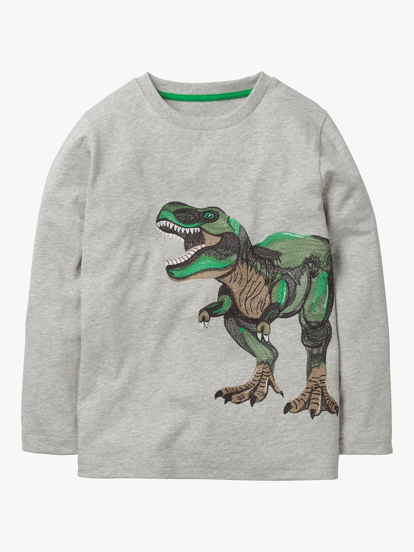 6a4c608188f4 Buy Mini Boden Boys' Superstitch Dinosaur T-Shirt, Grey Marl, 6- ...