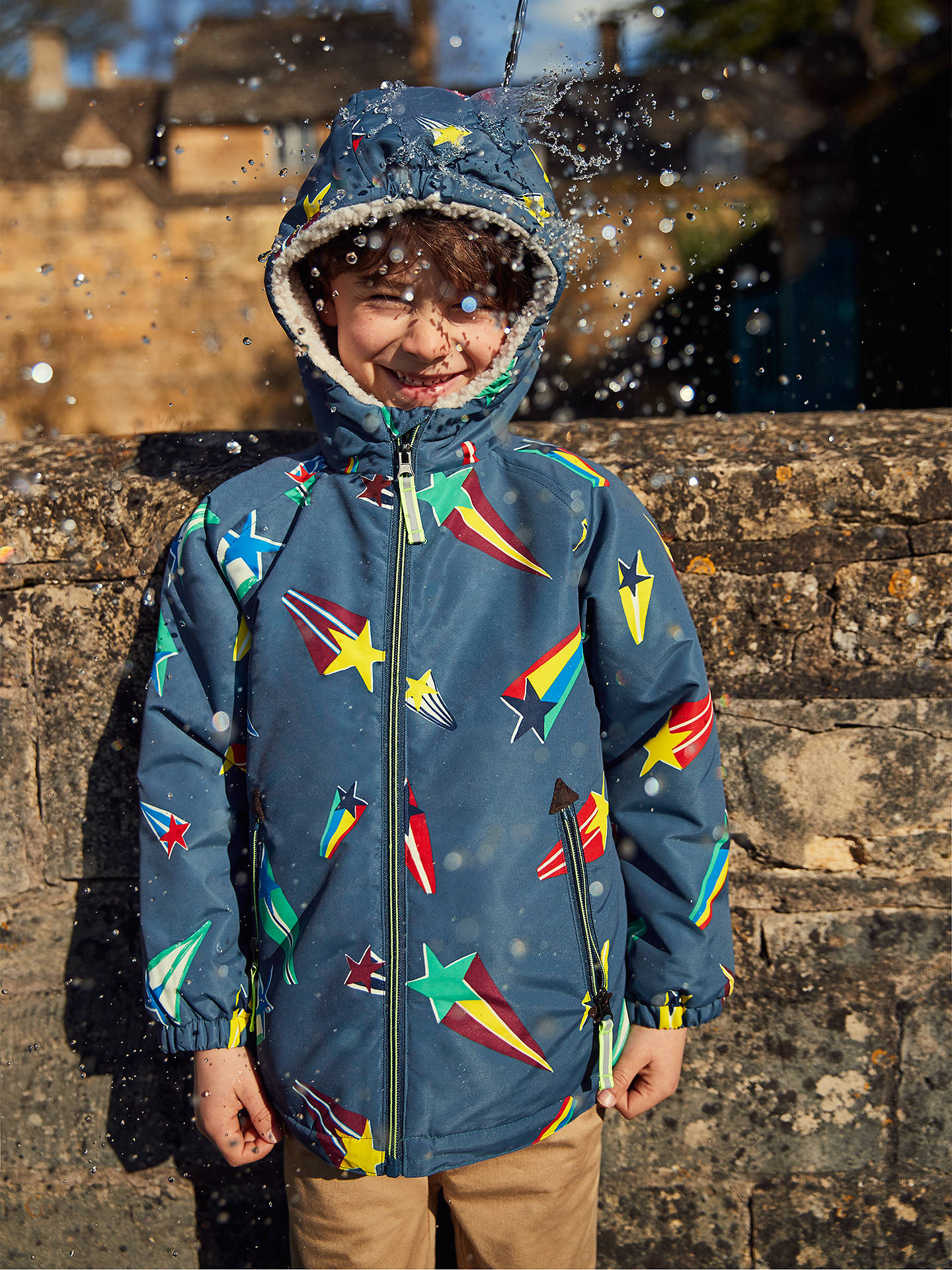 7a9998921 Mini Boden Boys  Sherpa Lined Anorak